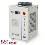 US Stock, S&A CW-6000BN Industrial Water Chiller for 100W Solid-state Laser, 22KW CNC Spindle, 30W-300W Fiber Laser Cooling, AC 1P 220V, 60Hz