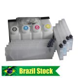 Brazil Stock-Roland Mimaki Mutoh Bulk Ink System--4 Bottles, 8 Cartridges