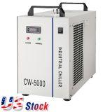 Stock สหรัฐอเมริกา, S & CW-5000 เครื่องทำน้ำเย็นอุตสาหกรรมสำหรับ 3W-5W เครื่องอัลตราไวโอเลต / เครื่องมือห้องปฏิบัติการ, 110V, 60Hz