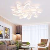 Modern LED White Acrylic Ceiling Lights for Living Room Bedroom Chandelier Hot 12 Heads