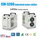 Free Shipping to Canada / Mexico, S&A CW-5200DG Industrial Water Chiller, (110V 60Hz) for 130W / 150W CO2 Glass Laser Tube Cooling, US Stocks