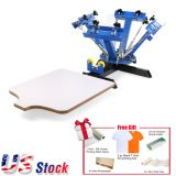 US Stock, 4 Color Screen Printing Press Machine Silk Screening Pressing DIY with 1 Station