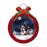 US Stock LED Snowing Musical Wall Bauble Decos with Santa and Bow