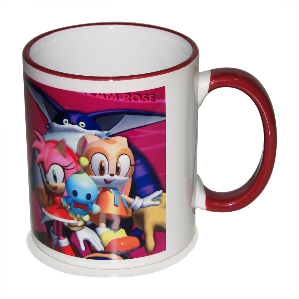 11OZ Sublimaiton Superfine Mug With Colored Rim