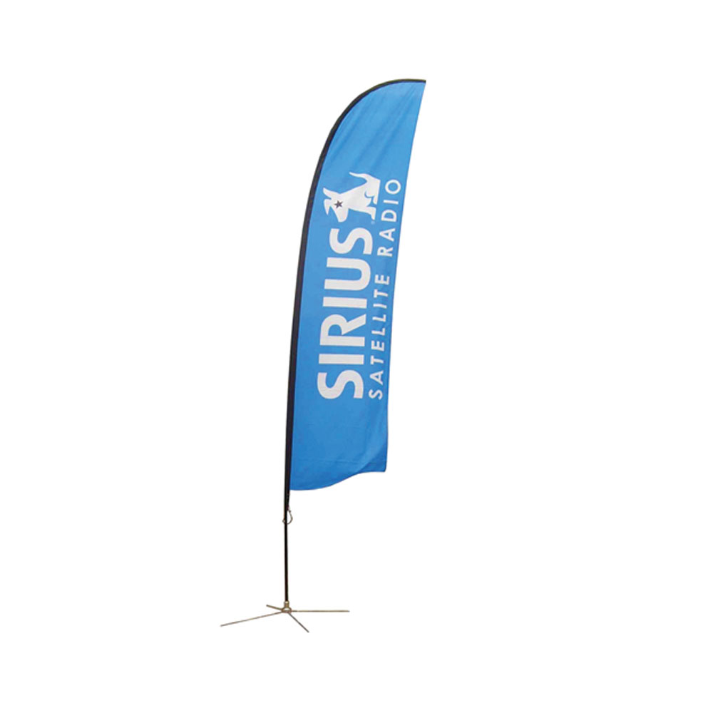 9.8 ft Wing Banner with Cross Base (Double Sided Printing)