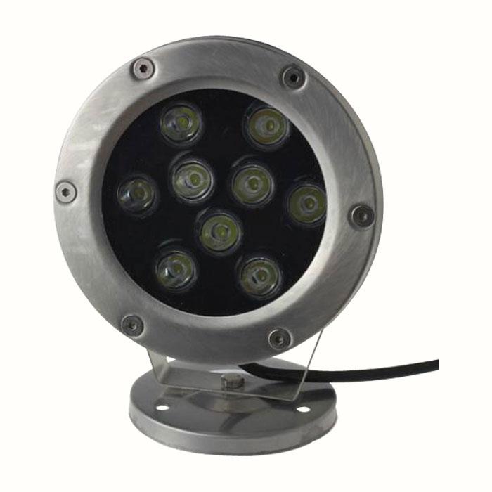 12-24V 9x1W RGB Silver Underwater Lamp
