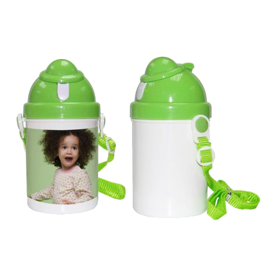 1pc 400ml Blank Water Bottle For Kids Children, for Sublimation Printing,With Little Cap