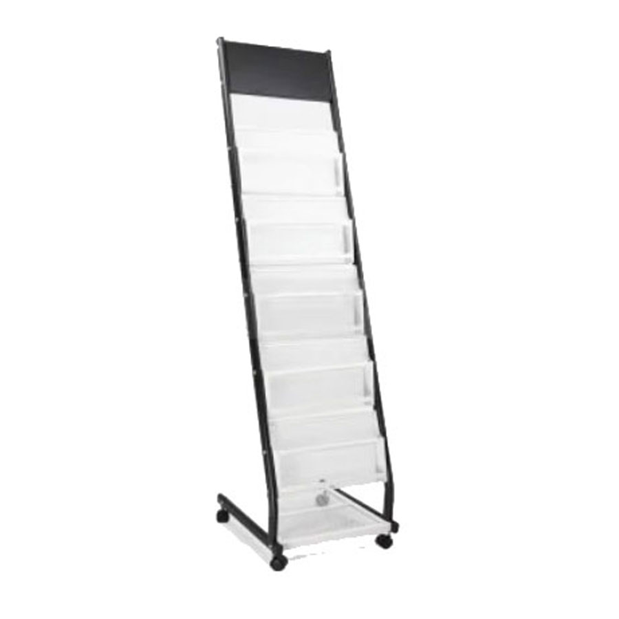 A Style Iron Literature Display Rack With 4 Pockets