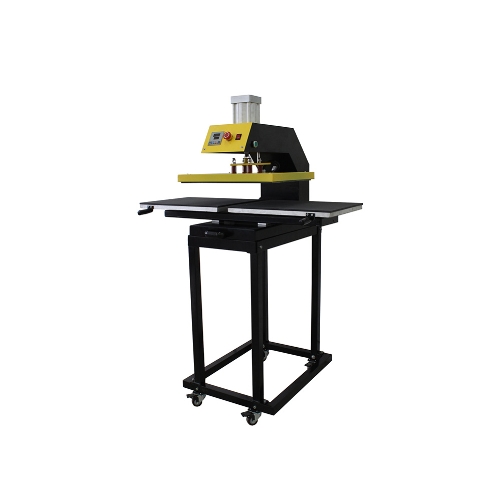 """15"""" x 15"""" Pneumatic Double Working-Table Heat Press Machine with Removable Tables and Stands"""