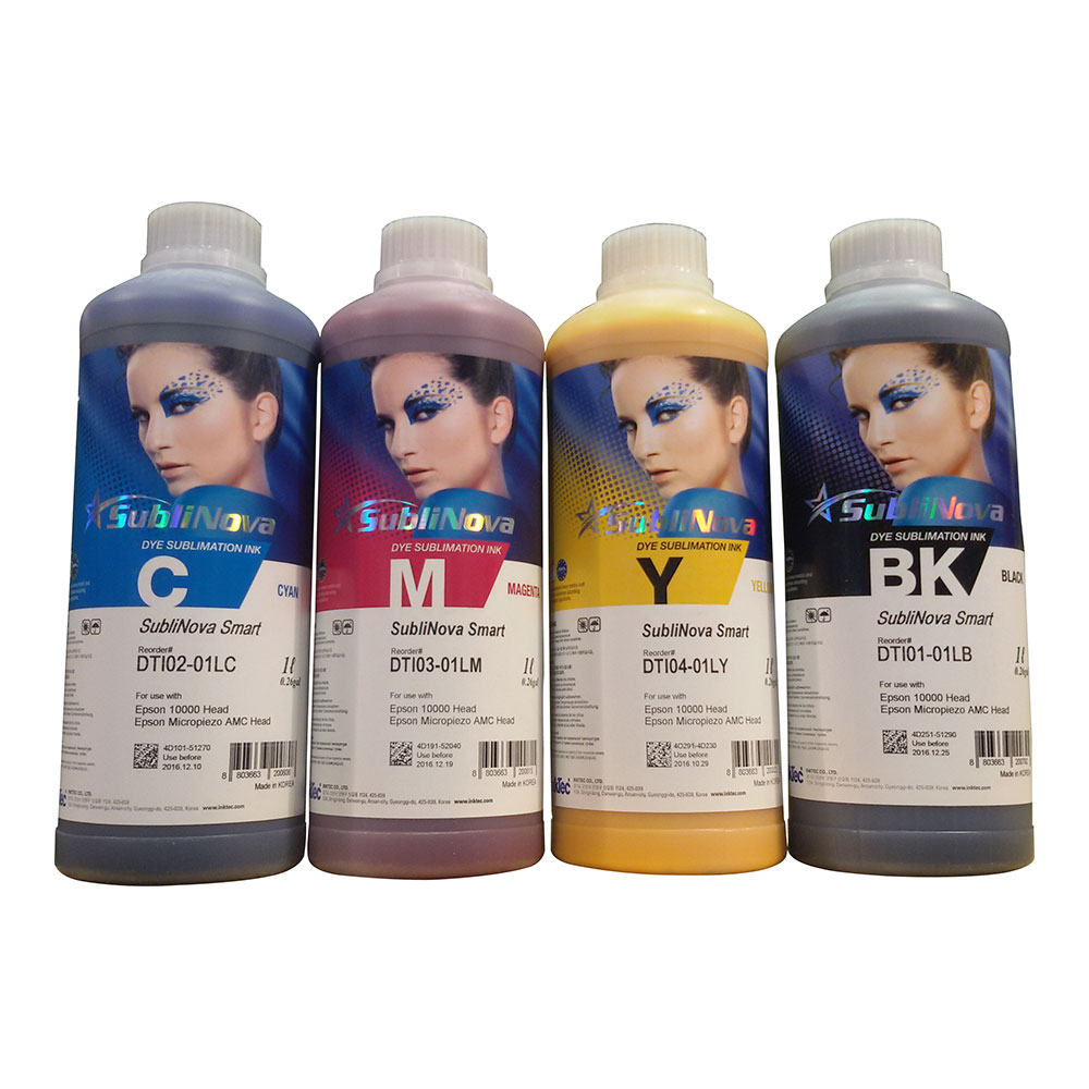 US Stock, 4L CMYK Inktec SubliNova Smart Inkjet Dye Sublimation Ink (DTI) 4 Bottles per Set
