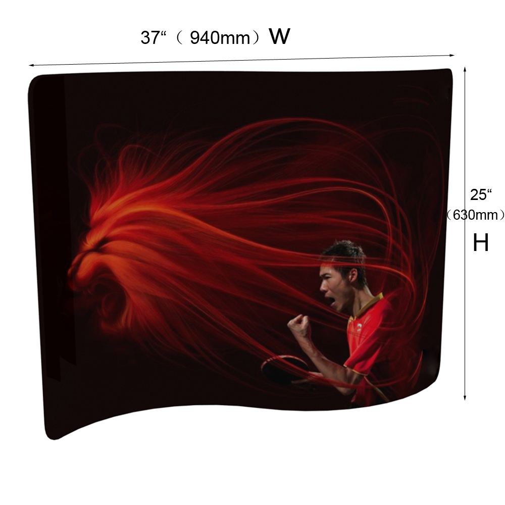 Sample - Mini S Shape Fabric Display Wall (Custom Graphics)