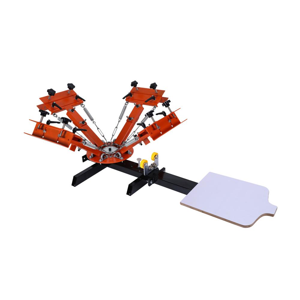 Australia Stock, 4 Color 1 Station Silk Screen Printing Machine 4-1 Press DIY T-Shirt Printing with Easy Adjusting System
