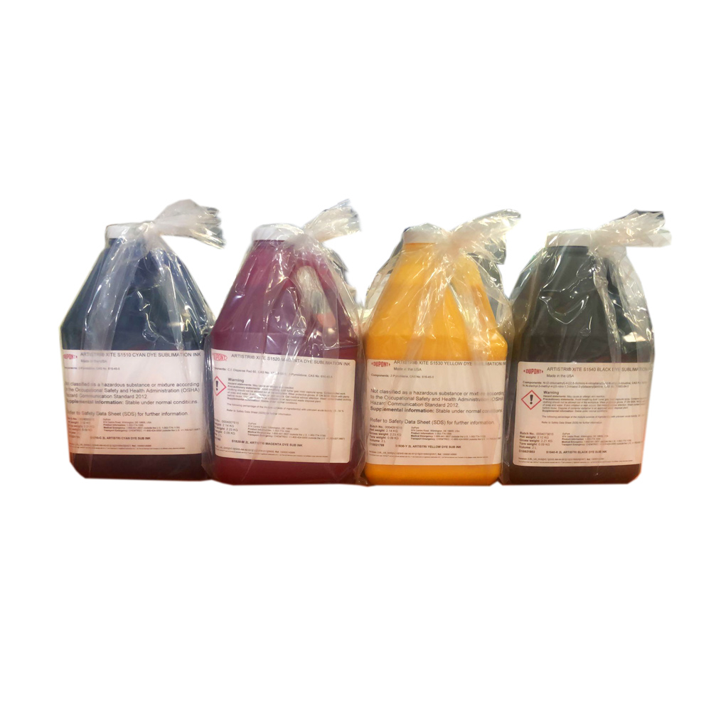 US Stock, Dupont Artistri CMYK Dye Sublimation Ink - S1500+ Series-8L