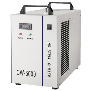 S&A CW-5000BG Industrial Water Chiller for Single 80W or 100W CO2 Glass Laser Tube Cooling, 0.52HP, AC 1P 220V, 60Hz