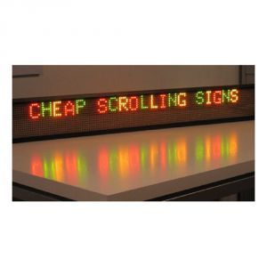 "68"" x 6"" Indoor 2 Lines LED Scrolling Sign (Tricolor or Single Color)"