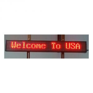 "59"" x 6"" Semi Outdoor 2 Lines LED Scrolling Sign(Tricolor or Single Color)"