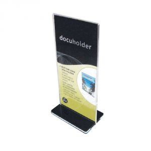 Removable T Shape Acrylic Menu Holder