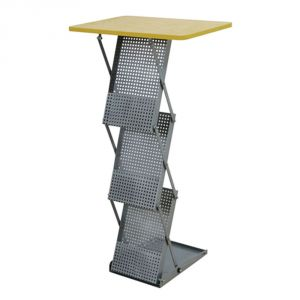 Portable Folding Table with 3 Literature Pockets