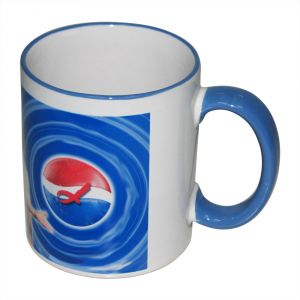 11OZ Sublimation Mug With Colored Rim