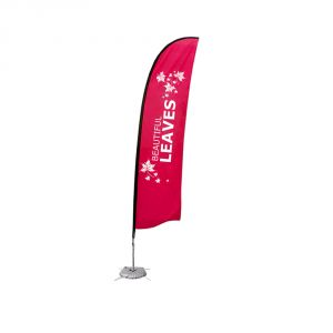 13.1 ft Wing Banner with Cross Water Bag Base (Single Sided Printing)