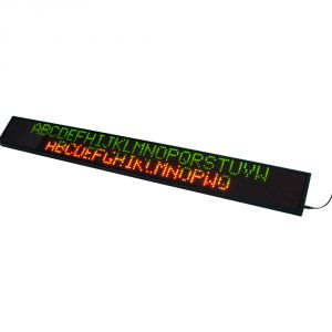 "69"" x 11"" Semi Outdoor 4 Lines LED Scrolling Sign(Tricolor or Single Color)"