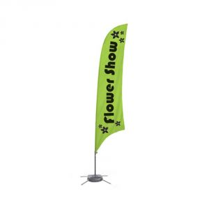9.8 ft Feather Banner with Cross Water Bag Base (Single Sided Printing)