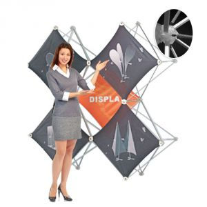 X Shape Pop Up Display