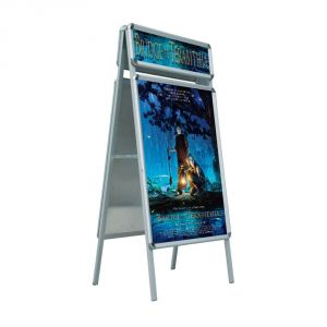 "Double Sided Snap Frame Poster Display Stand with Top Board 23.5"" x 35.5""(Frame only)"