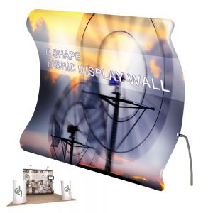 Vertical Curved Portable Fabric Tension Display (Single Sided Graphics Only)