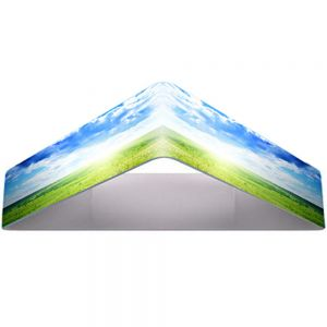 20ft Triangular Fabric Tension Hanging Sign (Double Sided Graphic)