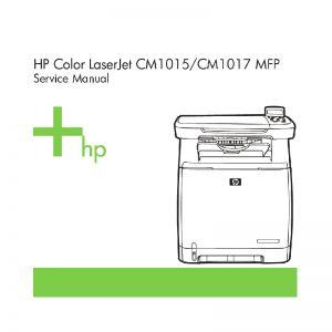 Hp color laserjet cm1015/cm1017 mfp service repair man.
