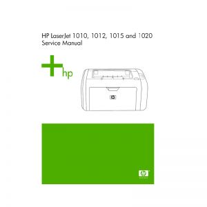 HP LaserJet 1010 1012 1015 1020 Printer English Service Manual