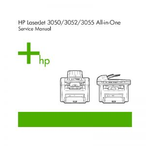 HP LaserJet 3050 3052 3055 English Service Manual