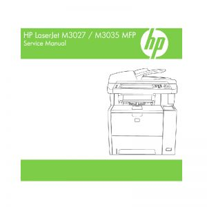 HP LaserJet M3027 M3035 MFP English Maintenance Manual
