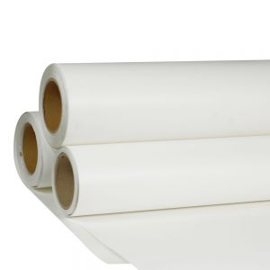 "Sample-24"" x 98´ Roll White Color Print and Cut Heat Transfer Vinyl For T-shirt Fabric"