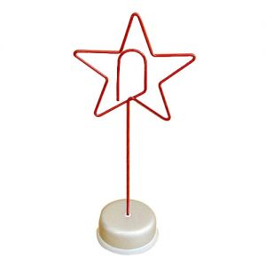 Five-pointed star shaped memo clip holder