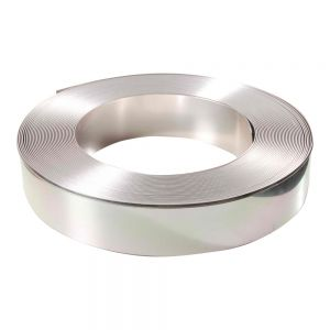 "80mm (3.1"") x 50m (164ft) Roll Mirror Silver Aluminum Return Coil (With Folded Edge, 2 Rolls / ctn) for Channel Letter Sign Fabrication Making"