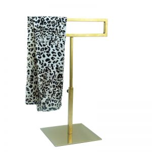 Gold scarf display stand