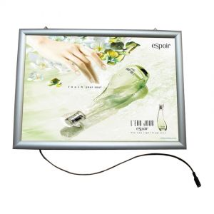 "A2 (23.4"" x 16.5"") Curved Snap Frame LED Slim Light Box (Without Printing)"