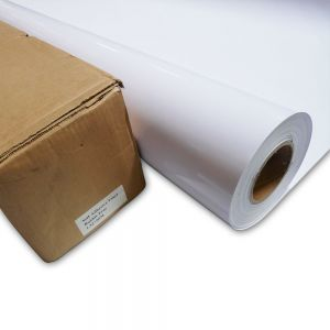 "42"" (1.07m) High Quality White Glue Self-adhesive Vinyl Film / Vehicle Wrap"