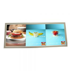 "13.7"" x 37.4"" Aluminum Frame Pictures Motion LED Super Slim Light Box with 3 Pictures (Without Printings)"