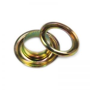 4# (10.5mm) Yellow Iron Grommet for Mini Hand Press Grommet Machine