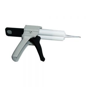 Manual Glue Gun for AB Adhesive Glue Including 1 Glue Cylinder and 2 Combining Nozzles