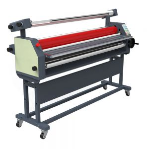 "Door to Door Service 63"" Full - auto Wide Format Roll Heat Assisted Cold Laminator with Stand"