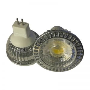 6W MR16 COB LED Ceiling Spotlight Bulb Fins Heat Dissipation Structure