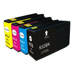 4pcs Re-manufactured HP 932XL Printer Ink Cartridge(Color)