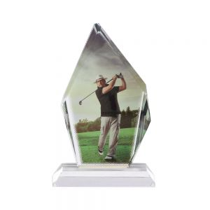 Sublimation Coating Blank Crystal Big Ice Hill Trophy
