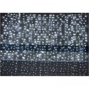 Colorful 6m 600 LEDS Icicle Light Curtain Light String for Festival Party Decoration