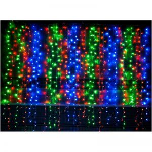 Colorful 6m 750pcs LEDS Icicle Light Curtain Light String for Festival Party