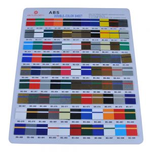 ABS Double-color Mental Sheet for CNC